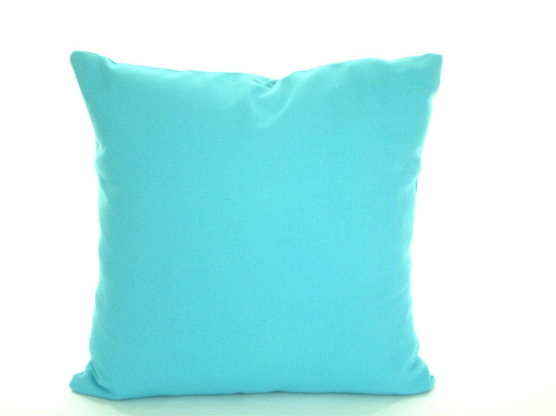 Blue And Aqua Throw Pillows : Solid Aqua Blue Pillow Cover Decorative Throw Pillow