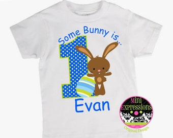 Personalized Easter Bunny Birthday Shirt or Bodysuit Personalized With Any NAME and AGE