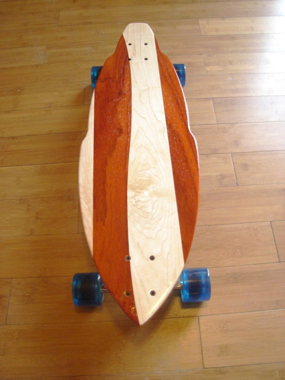 "Longboard - Custom Made with Maple and Padauk - 32x10 - ""Montezuma SB"""