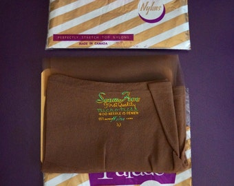 Two Pairs Vintage Nylon Stockings / Parade Nylons Made in Canada, Size 10 / Vintage Hosiery / Seamless Micro Mesh Nylon Stockings