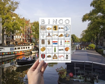 Amsterdam Travel Bingo - PRINTABLE - Travel Accessory, Scavenger Hunt, Netherlands