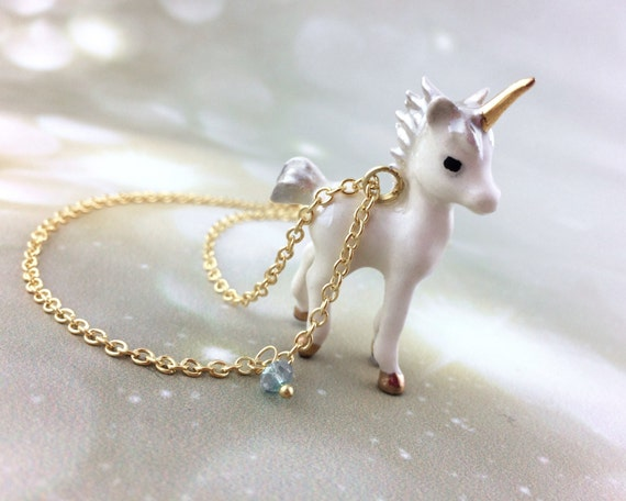 Porcelain Unicorn Necklace