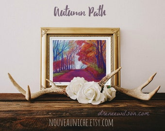 Easter gift for Her Nature Art Print Colorful Trees Landscape Painting Housewarming gift for Mom Nature Lover Gift Housewarming Gift
