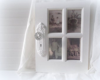 Door Style Frame with Doorknob White Mulit Picture Frame Farmhouse Chic Rustic Decor
