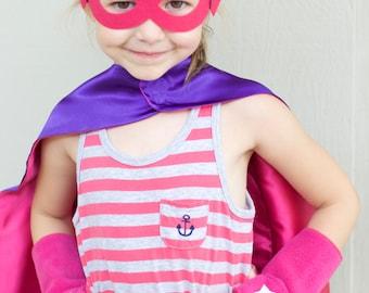 READY TO SHIP - Childrens Superhero Accessory - Lightning Bolt Fingerless Gloves Set - Hero Arm Bands - 18 Combinations - Halloween Ready