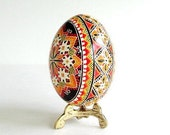 Best seller Traditional Ukrainian Easter egg  hand painted with beeswax hollow chicken egg Easter tree decorating ideas Easter Sunday gifts