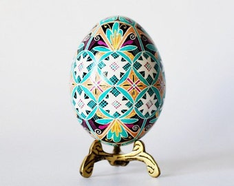 Pysanka Ukrainian Easter egg hand painted Easter tree decoration ornament best selling item on Etsy one of the best and first shops Toronto