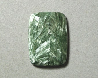 green SERAPHINITE rectangle cabochon 22X30mm designer cab