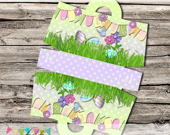 Easter Egg Treat Bag - Easter Party Set - School Parties / Gift Giving - Favours - Printable - Digital File - INSTANT DOWNLOAD