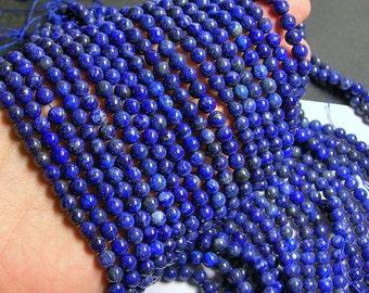 Lapis lazuli - 6mm round - 1 full strand - 66beads -