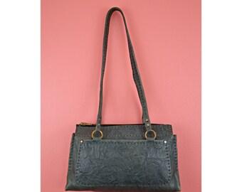 MARKED DOWN! VTG Tooled Leather Shoulder Bag