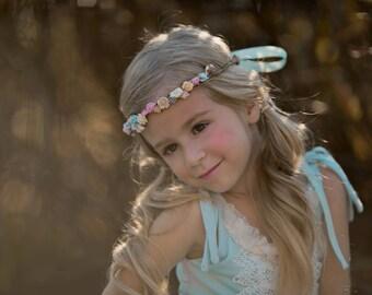 JOSEPHINE Flower Crown - Pastel Flower crown Headband Birthday- Hens Party Bridal Wedding Bridesmaid Flower Girl Engagement Party Headpiece