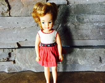 Ideal Toy,  Pepper Doll, Tammy's Little Sister, Original Dress, Freckles And Poseable Body