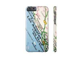 LOS ANGELES iPhone Case, LA Map Case, Samsung Galaxy s7 Case, iPhone 7 Case, 6 Plus Case, Los Angeles Art, Cool Phone Cover, Gift for Him.