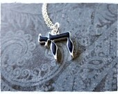 Blue Chai Symbol Necklace - Blue Enameled Chai Charm on a Delicate Sterling Silver Cable Chain or Charm Only