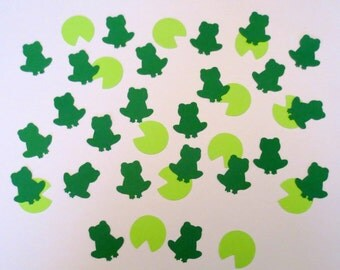 Frog and Lilly Pad Die Cut Confetti-Set of 200