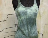 Water Hand Dyed Tank / Tie Dye Top
