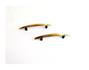 Pair of Mid Century Arched Brass Pulls