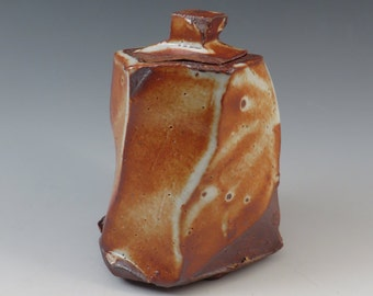 Kurinuki Five-sided Stoneware Jar (339)