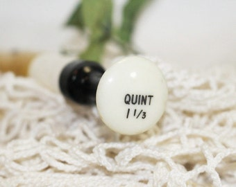 Quint 1 1/3 Organ Key, Vintage Wood Organ Key