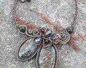 Soutache embroidered necklace RESERVED