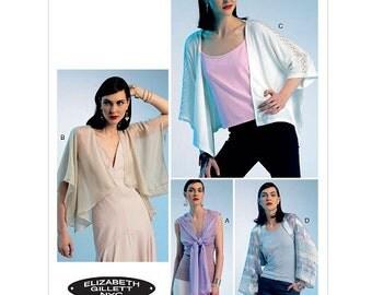 Elizabeth Gillett Jacket Pattern OOP Vogue 8820 Four Styles Day Evening Uncut FF Size XS-S-M Bust 29.5 - 36 Women's Sewing Pattern