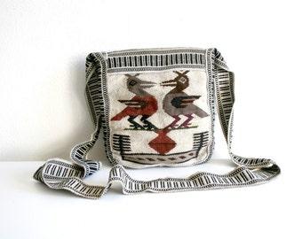 Bird Mexican Textile Purse