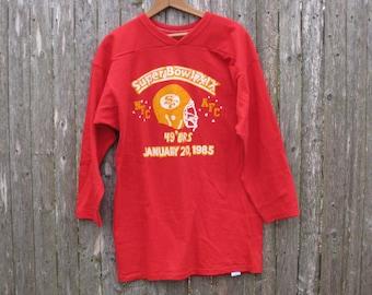 Vintage San Francisco 49ers Super Bowl Sweatshirt Mens Large