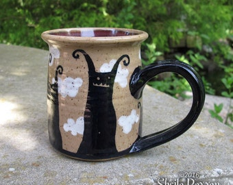 Monsters in the Clouds Mug - stoneware coffee cup