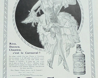 1920's Genuine French Advert - '4711' Perfume Ad - Carnival (Lutz Ehrenberger)