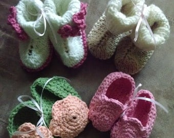 Hand crocheted Baby Booties - Newborn to 6 months