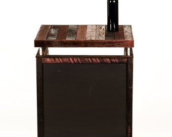 """HOSTESS STAND - """"Lectern 2"""" - Wine Oak Staves w/chalkboard - 100% Recycled"""