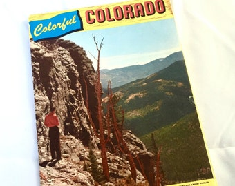 1956 Colorful Colorado Highway Map