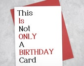 Boyfriend Birthday Cards - Not Only - Funny Gift - Sexy Card - Adult