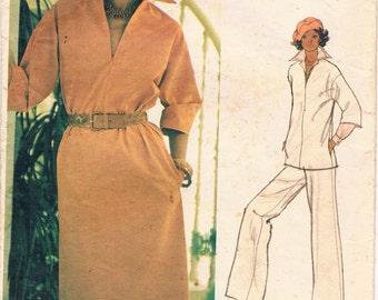 Vintage 1970's Vogue Leo Narducci Pattern - Misses' Dress, Tunic, Pants  No. 1200
