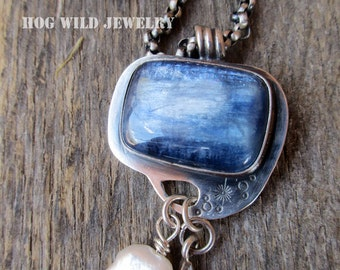 Artisan Handcrafted Silver Smith Gemstone Pendant Necklace