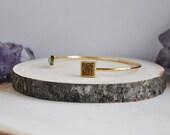 Druzy Cuff, Druzy Bracelet, Druzy Jewelry, Chalcedony Cuff, Geometric Cuff, Colorful Druzy Bracelet, Stacking Bracelet, Layering Bracelet