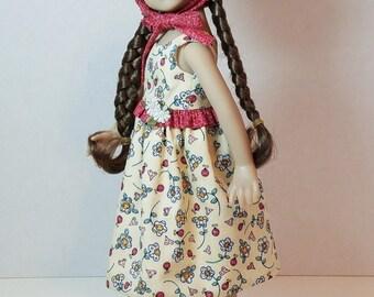 "Sundress and Bonnet for 13"" Dianna Effner Little Darling Dolls"