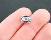 15 Spacer Beads Antique Silver Tone 3D Triple Hole Bead - SC5415