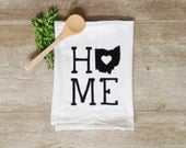 Tea Towel - Customized State Tea Towel ANY STATE Personalized Kitchen Towel Home Decor State Pride State Towel Kitchen Decor