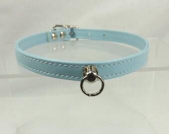 BDSM Day Collar O ring Buckle Collar mature sub collar slave day collar