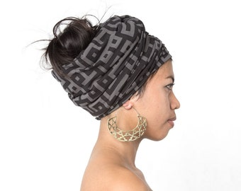 Azteka Hoops Large - Boho Jewelry - Statement Earrings - Geometric Jewelry