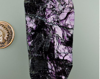 Covellite Magenta Fire Cabochon from 49erMinrals