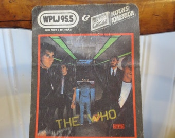 The Who - 1982 Rocktober Concert Ticket Sticker