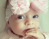 Baby headband, newborn headband, adult headband, child headband and photography prop The single sprinkled- Ruffles headband