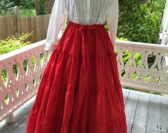 Ships Today - 7  Yard Ruffled Petticoat  or Skirt  Colonial, Pioneer, Prairie -Reenactment - Women