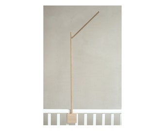 baby crib mobile holder / wooden mobile arm / baby crib attachment