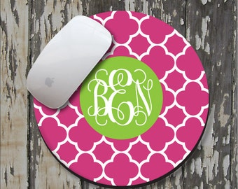 CLOVER Personalized Mouse Pad, Personalized Mousepad, Monogrammed Mouse Pad, Monogrammed Mousepad, Custom Mouse Pad, Custom Mousepad