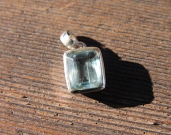 Stunning Fluorite Pendant - Solid Sterling Silver - Fluorite Jewelry - Metaphysical