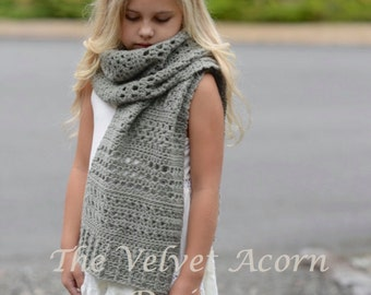 CROCHET PATTERN-The Rainstorm Wrap (Small, Medium, Large and xLarge sizes)